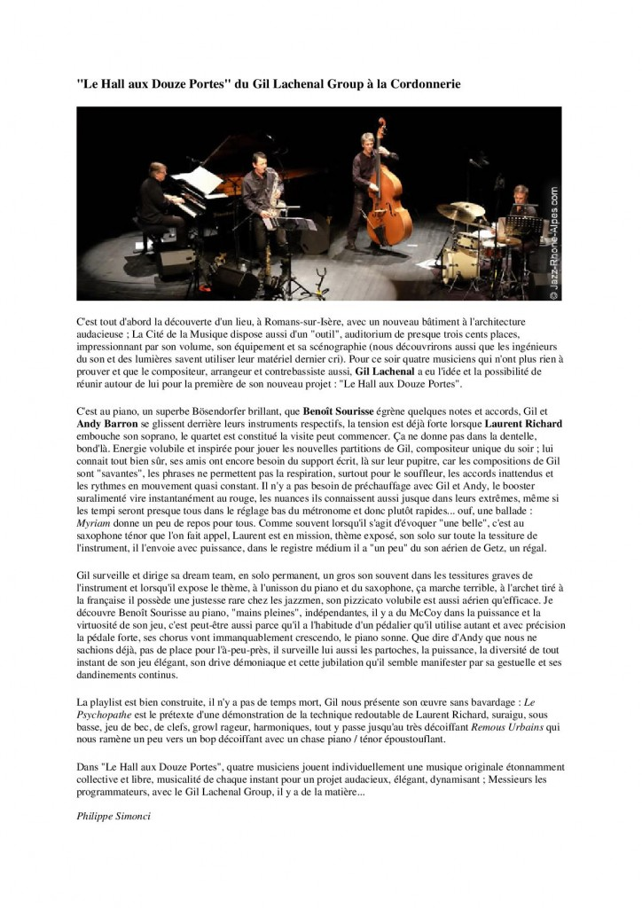 Jazz Rhône-Alpes 16 juin 2014