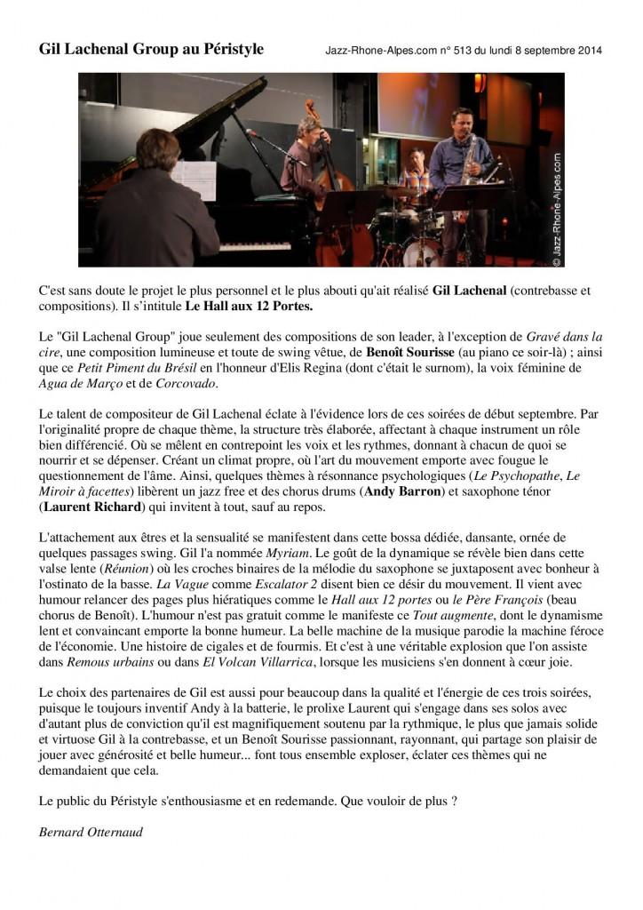 Jazz Rhône-Alpes 8 sept 2014