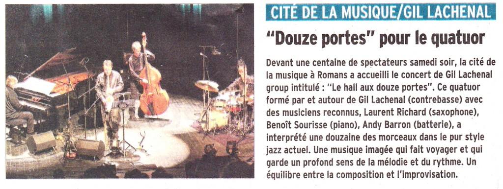 Le Dauphiné Romans 16 juin 2014