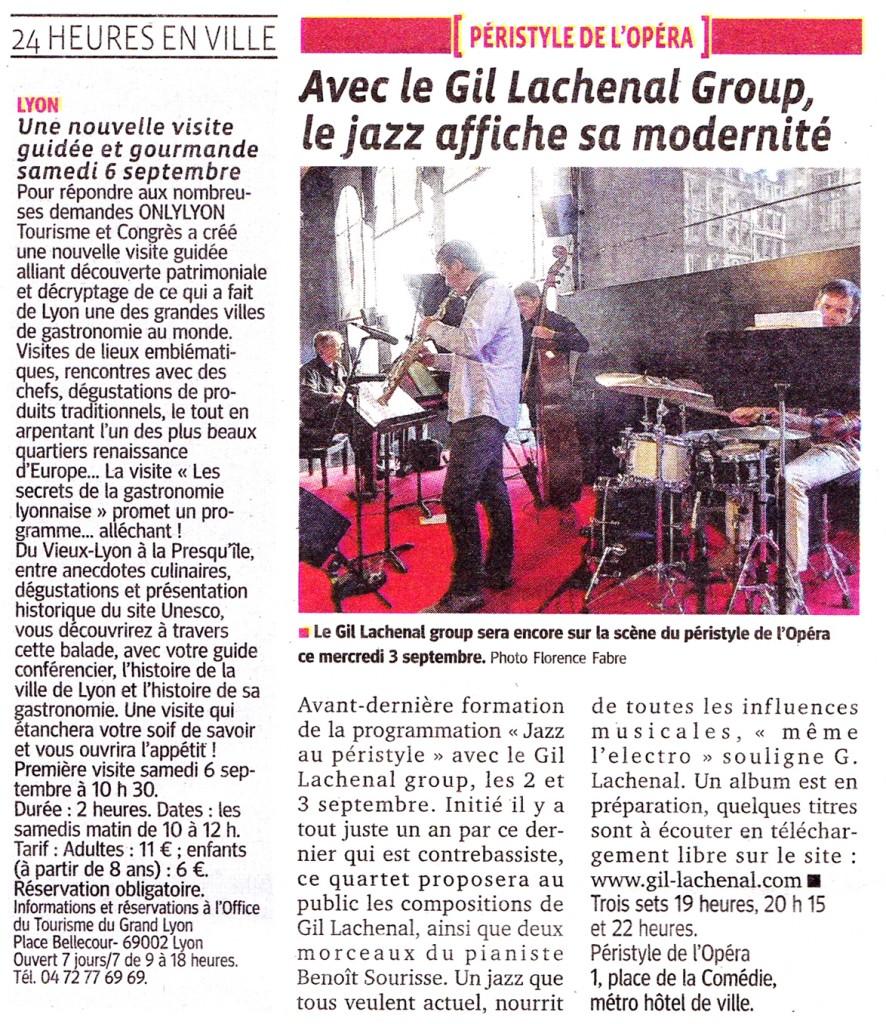 Le Progrès Lyon 3 septembre 2014